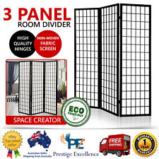 Folding Room Dividers Panel Privacy Screen Stand Living Room Wooden Timber Black