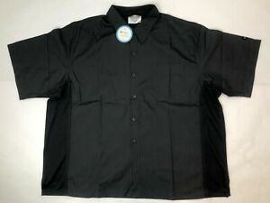 Cook Cool by Happy Chef Men's Black Size 2X-Large Short Sleeve Shirt NWOT