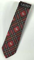 New Lauren Ralph Lauren Men's Tie Scottie Dog Print 100% Silk NWT MSRP $65