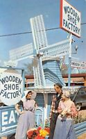 Holland Michigan~Wooden Shoe Factory~Windmill Entrance~Dutch Costumes~1950s PC