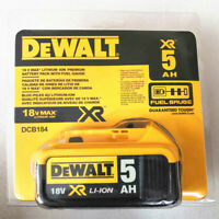 New DeWalt Seal Packing 18v XR 5.0ah Battery DCB184 Li-Ion with indicator