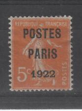 France - Préoblitéré n° 30 neuf * - POSTES PARIS 1922 - C: 185,00 €