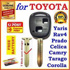 Toyota Remote Key Shell Case Prado Corolla Yaris RAV4 Echo Blank - 1x - Express
