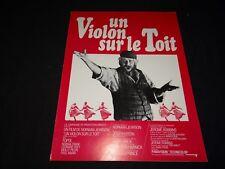 UN VIOLON SUR LE TOIT ! norman jewison scenario dossier presse cinema 1971