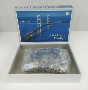 "Mackinac Bridge 18"" X 24"" 500 Piece Jigsaw Puzzle 100% Complete"