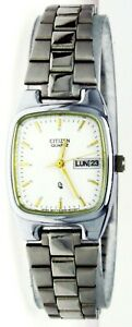 New Old Stock Ladies Citizen Watch Quartz Water Resist White Dial, Day Date