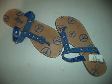 Girls Circo Sandals In Genuine Blue Suede Upper Balance Size 1 With Rivets