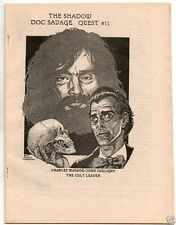 1982 pulp fanzine The Shadow - Doc Savage Quest #11, Charles Manson cover mint
