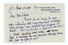 More details for ursula vaughan williams 1911-2007 english poet/author nice als