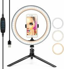 More details for new led ring light live makeup video photo with desk tripod phone holder 10