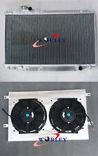Aluminum radiator + shroud + fans for Toyota Supra JZA80 Turbo 1993-1998 Manual