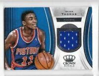 2018-19 Isiah Thomas Jersey Panini Crown Royale Pistons