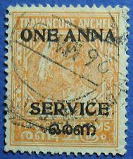 1949 TRAVANCORE-COCHIN INDIA 1A O14 SG#O12 USED CS02903