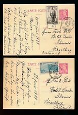 FRANCE 1939 POSTAL STATIONERY UPRATED 70c + 90c + 35c FUNDS to AUSTRIA...Nels