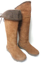 CAT CATERPILLAR US 6M Shiver Cola Brown Suede Leather Winter Boots Thinsulate