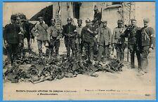 CPA: Soldats français affublés de casques allemands à Neufmontiers /Guerre 14-18