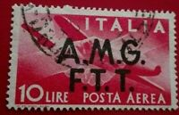 Italy:1947 Airmail - - Italy Postage Stamps of 1945 .  Rare & Collectible Stamp.