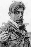 WW2 Picture Photo 1944 Wounded German soldier Panzer Div Hitlerjugen 3238
