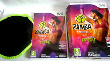 WII ZUMBA FITNESS GAME WITH OFFICIAL BELT COMPLETE