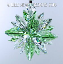 m/w Swarovski Mini Super Star Peridot Car Charm Suncatcher Lilli Heart Designs