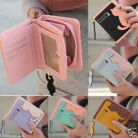 New Fashion Women Cat Purse Short Wallet Zipper Bags PU Handbags Card Holder