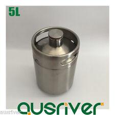 New 304 Stainless Steel 5L Beer Keg Mini Growler Homebrew Wine Brewing Xmas Gift