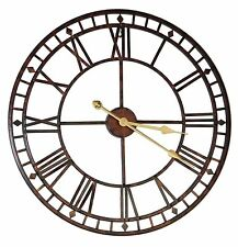"24"" Metal Skeleton Wall Clock Home Decorative Cafe Bar Pub Restaurant Decor 60cm"