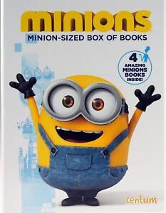 Minions Sized Box of Books Activity & Sticker 4 Book Set Hardcover Case Free P&P