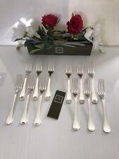 Christofle modèle Luc LANEL - 12 fourchettes à dîner en métal argenté