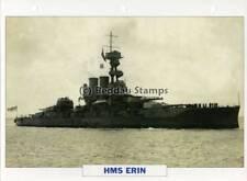 1913 HMS ERIN Battleship Capital Ship / GB Warship Photograph Maxi Card