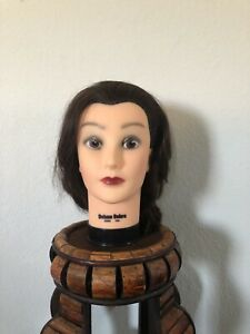 Deluxe Debra Manikin Cosmetology Mannequin Head 100% Real Human Hair 12 Inches