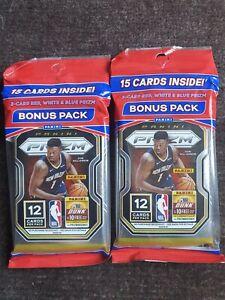 NBA 2020-21 Panini Prizm Basketball Cello/Fat Packs (TWO) - BRAND NEW & SEALED