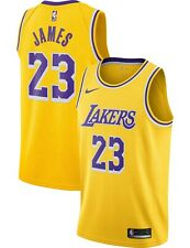 Nike Men's Los Angeles Lakers Lebron James oro Dri-Fit Swingman Jersey Xxl
