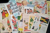 Lot of 52 Print Ads Misc Foods HEINZ HUNTS GREEN GIANT 40s & 50s (ad187)