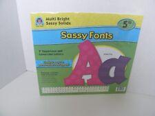 "Teacher Created Resources Sassy Fonts 5"" Multi Bright, Teachers, Crafts"