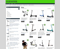 fully stocked E-SCOOTER website ecommerce - ONE YEARS HOSTING-new domain