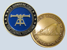 submarine rate fire control technician ft logo navy challenge coin