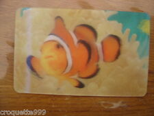 2014 Carte animée CORA Collector Animaux Animals POISSON CLOWN 40/44