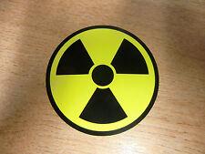 Symbole / nucléaires radioactifs - 75mm Sticker / Autocollant