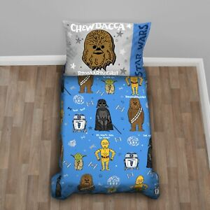 Disney Star Wars 4-Piece New Again Toddler Bedding Set Darth Vader, Chewbacca