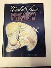 1939 New York World's Fair PREVIEW magazine