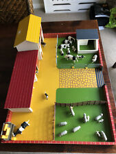 More details for collection of britains toy farm animals with farmyard, fixtures and buildings