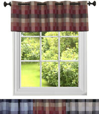 "Kitchen Window Curtain Classic Harvard Checkered  14"" Valance"
