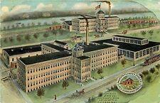 Postcard Watson Plummer Shoe CO Red Schoolhouse Shoes Factories Dixon IL