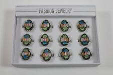 12 x großer Damenring Fingerring Ring Schmuckmetall Steinbesatz Markasiten