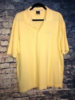 Nike Golf Mens Dri-Fit Polo Shirt Large Yellow Free Shipping Rare Only 1 On🔥hot