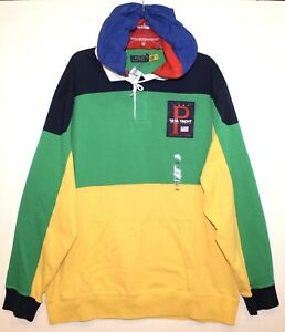 Polo Ralph Lauren Mens Yellow 12 M Yacht Hoodie Rugby Jacket NWT $198 Size XL