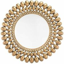"Zuo Inha 33"" Round Decorative Mirror in Gold"