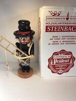"STEINBACH German Wooden NUTCRACKER CHUBBY FIREMAN 11"" With Box & Tag"