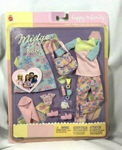 MATTEL NRFB 2002 BARBIE HAPPY FAMILY MOM MIDGE & BABY OUTFIT #47629